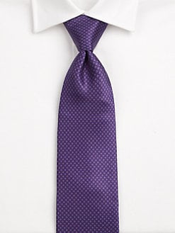 Brioni - Mini Circle Neat Silk Tie