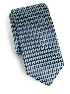 Ike Behar - Diamond/Oval Silk Neat Tie