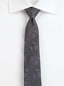Paul Smith - Floral Print Silk Tie