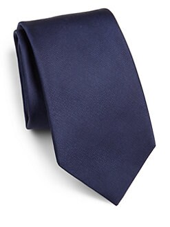 Eton of Sweden - Solid Silk Tie/Navy