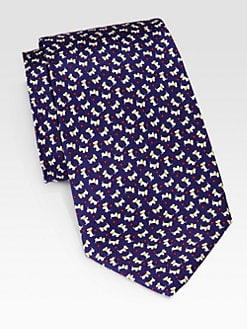 Salvatore Ferragamo - Scottie Print Silk Tie