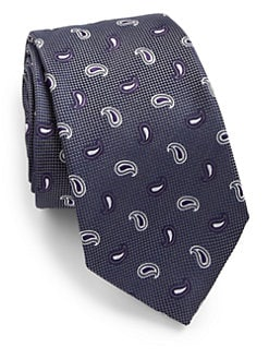 Eton of Sweden - Teardrop Print Silk Tie