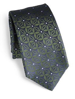 Eton of Sweden - Flower Print Silk Tie