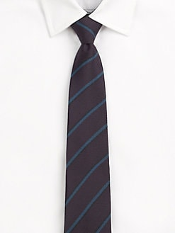 Burberry London - Triple Color Striped Silk Tie