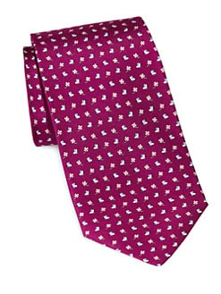 Salvatore Ferragamo - Flower and Butterfly Silk Tie