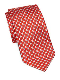 Salvatore Ferragamo - Rabbit Print Silk Tie