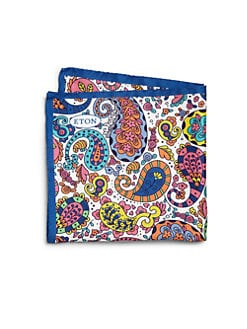 Eton of Sweden - Multicolored Flower Print Pocket Square