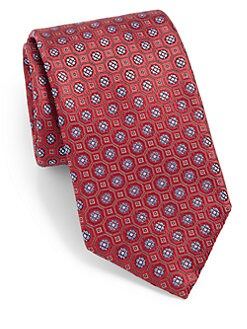 Canali - Flower Medallion Silk Tie