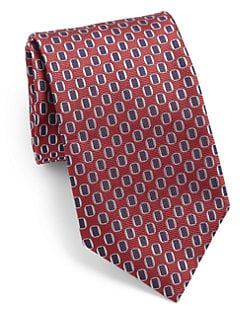 Canali - Oval Patterned Silk Tie