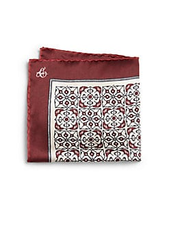 Canali - Flower Pattern Pocket Square