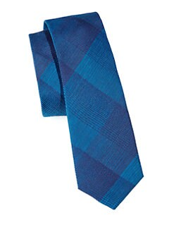 Hugo - Check Silk & Cotton Tie