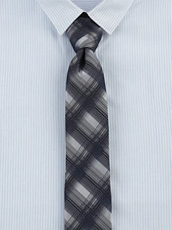 Hugo - Checked Silk Tie