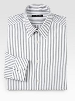 Theory - Dover Certify Striped Dress Shirt