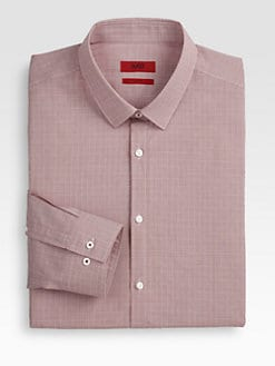 Hugo - Mini-Square Print Dress Shirt