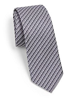 Hugo Boss - Multi Check Silk Tie