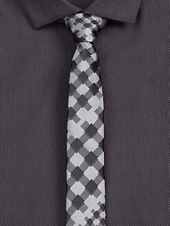 Hugo - Diagonal Print Silk Tie
