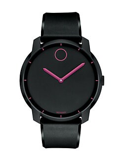 Movado - Stainless Steel Watch/Deep Pink