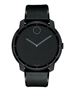 Movado - Stainless Steel Watch/Black