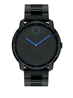 Movado - Stainless Steel Watch/Blue