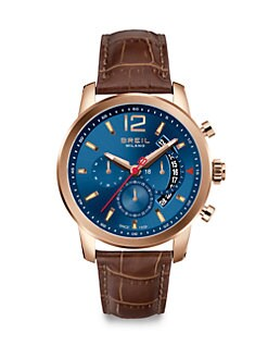 Breil - Rose-Gold Plated Chronograph Watch
