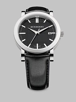Burberry - Stainless Steel & Leather Watch
