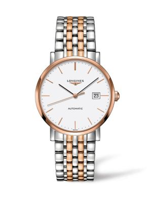 Elegant Goldtone & Stainless Steel Watch