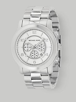 Michael Kors - Round Stainless Steel Chronograph Watch