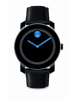 Movado - Large Bold Watch/Blue Detail