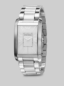 Emporio Armani - Stainless Steel Rectangle Watch