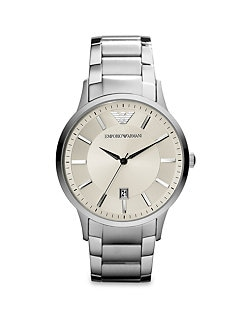 Emporio Armani - Round Stainless Steel Watch