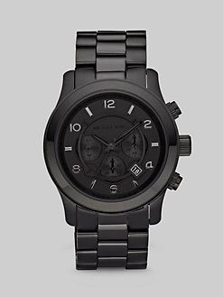 Michael Kors - Black-on-Black Stainless Steel Chronograph Watch