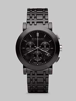 Burberry - Chronograph Watch with Ceramic Bracelet