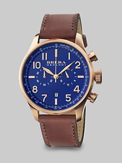 Brera Orologi - Rose Gold Plated Chronograph Watch