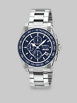 Breil - Manta Stainless Steel Chronograph Watch/Blue