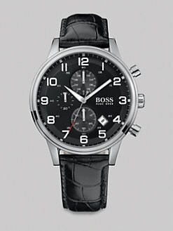 BOSS Black - Aviator Chronograph Watch
