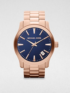 Michael Kors - Runway Rose-Gold Plated Watch