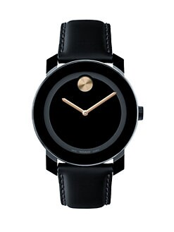 Movado - Large Bold Watch/Gold Detail