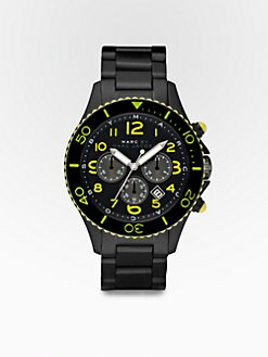 Marc by Marc Jacobs - Marine Chronograph Watch/Black Silicone