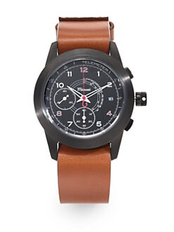 Miansai - Oil Leather Chronograph Watch