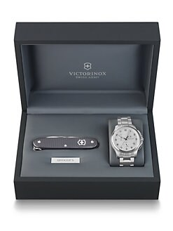 Victorinox Swiss Army - Officer's Chronograph Watch & Knife Set