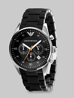 Emporio Armani - Round Stainless Steel Chronograph Watch