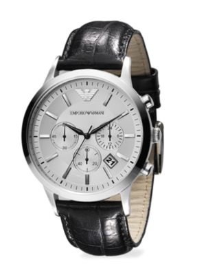 Slim Stainless Steel Chronograph Watch