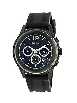 Breil - Black IP and Stainless Steel Three-Chronograph Watch