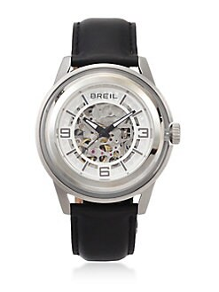 Breil - Automatic Stainless Steel and Glass Watch