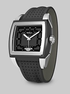 Breil - Stainless Steel Driver Watch/Black Dial