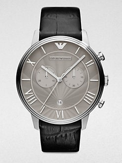Emporio Armani - Stainless Steel Chronograph Strap Watch