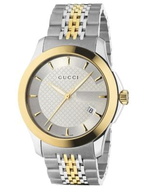 G-Timeless Collection Watch/Stainless Steel & Gold PVD