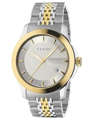 gucci male 260882 gtimeless collection watchstainless steel gold pvd