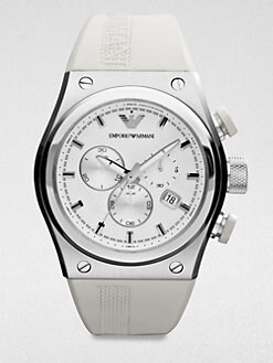 Emporio Armani - Polished Stainless Steel Chronograph Watch