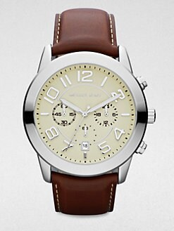 Michael Kors - Mercer Leather Chronograph Watch
